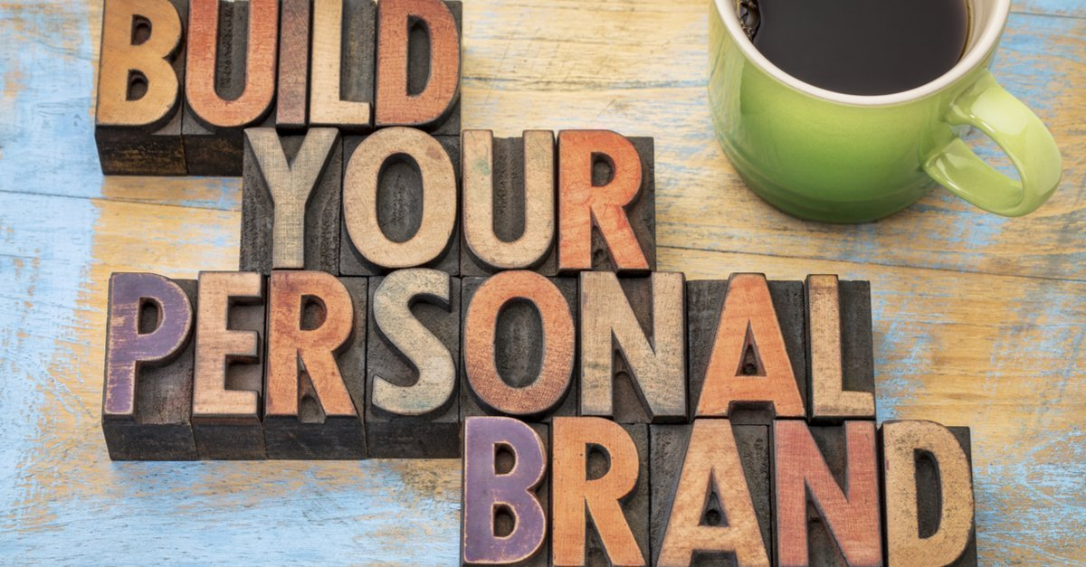 'Build Your Personal brand' in black and multi-coloured ink blocks