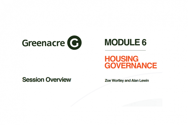 Eastern Leaders Masterclass 6 – Housing Governance with Zoe Wortley and Alan Lewin