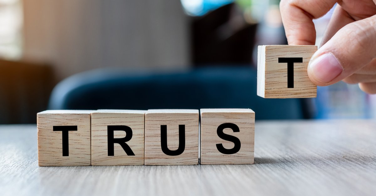 Scarbble words spelling trust